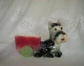 Vintage Ceramic Scottie Dog Planter