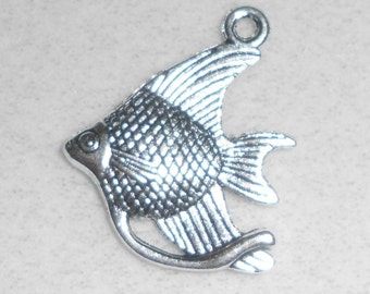 Silver Angel Fish  Pendant