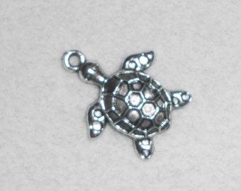 Silver Sea Turtle Pendant