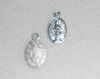 Silver Virgin Mary Charms