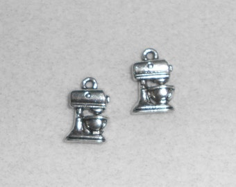 Silver Culinary Mixer Charms