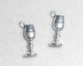 Silver Wine Glass Charms