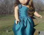 "18"" Doll Elegant Ballroom Gown Pattern, One Shoulder Strap"