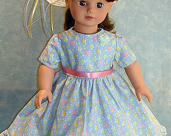 Spring Fling Dress and Hat made to fit 18 inch dolls