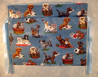 Walker Tote Bag, Dogs and Cats Print