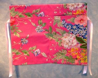 Walker Tote Bag, Hot Pink Floral
