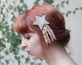 Velvet and Glass Glitter Star Hair Clip