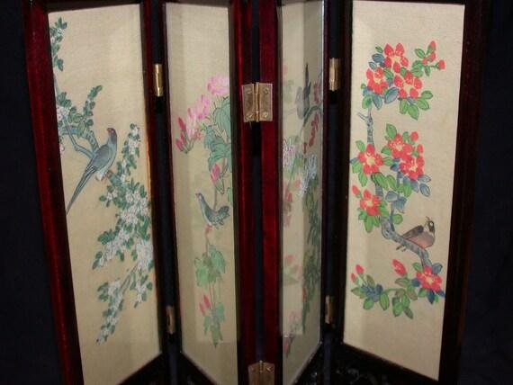 Asian Tabletop Folding Screen