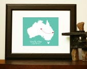 Unique ANNIVERSARY GIFT for BOYFRIEND or Valentines Day Gift - Journey Map of  Australia - Or for Christmas, Valentines