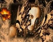Girl of Liquid Fire Surreal photo art