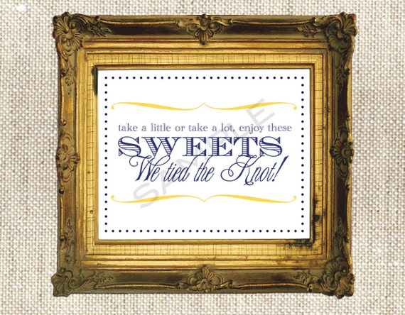 Items similar to Wedding Candy Bar Sign / DIY Print at ...