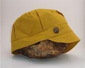 Beach Cadet Hat - Yellow Linen Organic Cotton