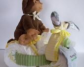 "Baby Shower Gift- Monkey Trike Neutral Theme-""Mommy's Best Friend"""
