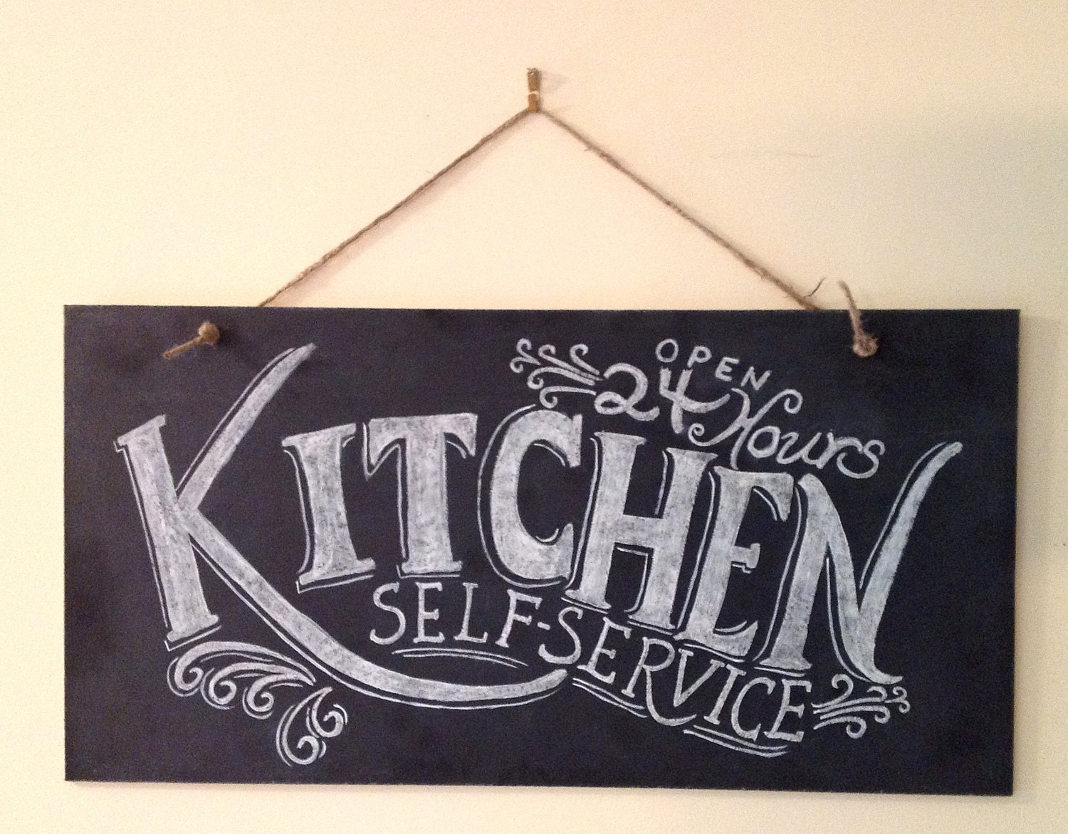 Kitchen Chalkboard Sign Kitchen Wall Art Typography Art