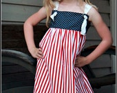 Red, White & Blue Knot Dress - Reserved for Giveaway