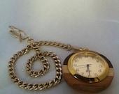 Super Swank Hardwood Pocket Watch