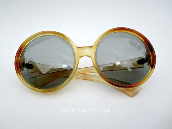 vintage sunglasses Polaroid  Cool-Ray  Social Eyes 1960s round