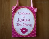 Printable Personalized Tea Party Welcome Sign - MarleyDesign
