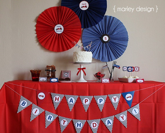 Race Car Party Printable Collection / Race Car Birthday Party