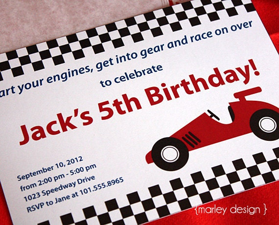 Printable Race Car Party Invitation Race Car Invitation Car – Printable Cars Birthday Invitations
