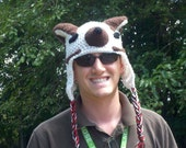 PATTERN crochet Bucky The Badger Hat Adult Size Only