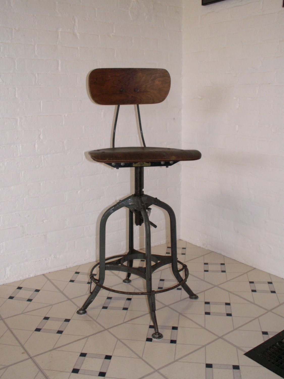 Drafting Stool Uhl Toledo Metal Furniture Co