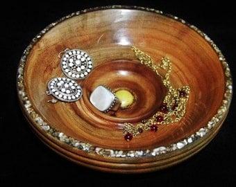 Bowl Vanity Dish With Inlay