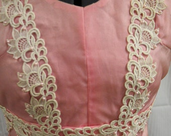 Vintage 60s Pink Baton Costume/Bodice and Cuffs