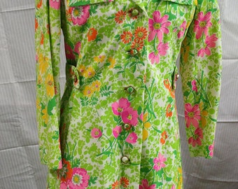1970s Floral Dress and Matching Coat