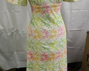 70s floral lace maxi dress