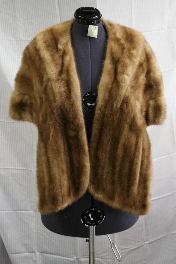 Vintage Mink Fur Stole 1950s