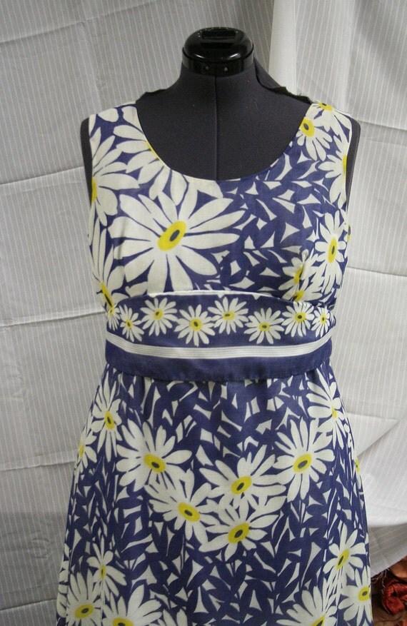Vintage 70s Floral Maxi Dress 14/16