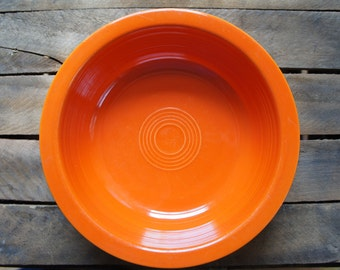 Vintage Fiestaware 8inch Nappy Serving Bowl Radioactive Red
