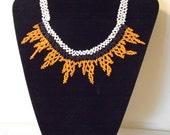 Vintage Native American Tribal Designed Seed Beaded Choker