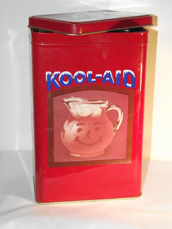 Vintage Traditional Iconic KOOL-AID Packet Metal Canister