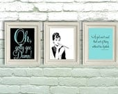 Digital Download, Breakfast at Tiffanys, Audrey Hepburn Prints