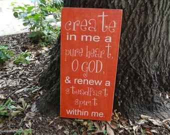Create in me Hand Painted Sign