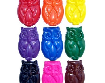 10 sets of 4 Owl Crayons