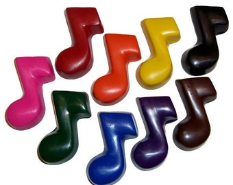 Music Note Crayons - Set of 5