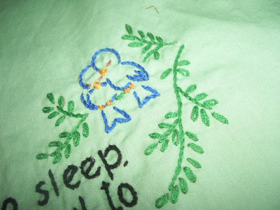 Hand Embroidered Pillow or Picture for Baby- Now I Lay Me Down to sleep