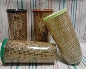 raffiaware melmac and burlap insulated tumblers