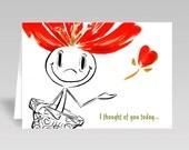 I THOUGHT OF YOU - Potssies Joyful Greeting Card