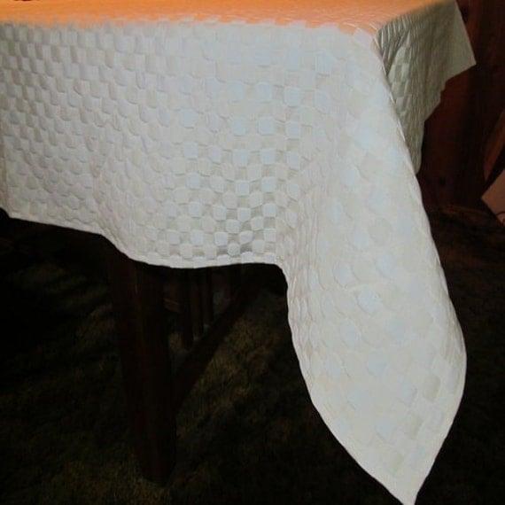 Tablecloth Damask Creme