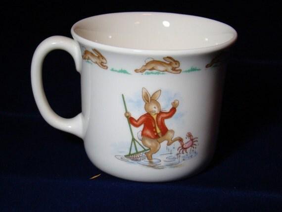 Vintage English Royal Doulton Bunnykins Mug - c1936