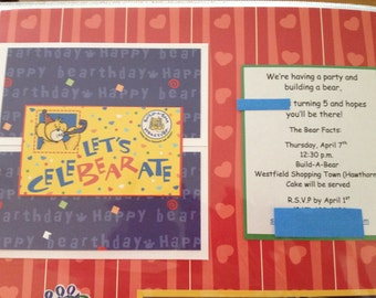 Build A Bear Birthday Invitation