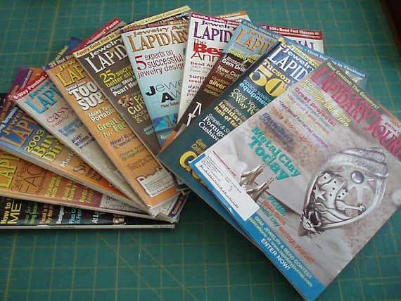 Lapidary Journal - Jewelry Arts - Gems - Beads - Metals -- 11 Issues, March 2003 thru Jan 2004