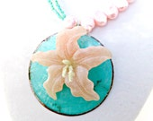 Asymmetrical Ocean Lily Necklace
