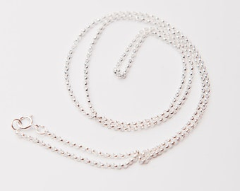 18 Inch Sterling Silver 1.5mm Rolo Chain, Sterling Silver Necklace Chains, Sterling Silver Necklace