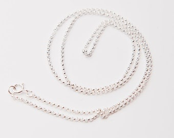 20 Inches Sterling Silver Chain, 1.5mm Rolo Chain, Sterling Silver Chain Necklace, Sterling Silver Necklace Chains