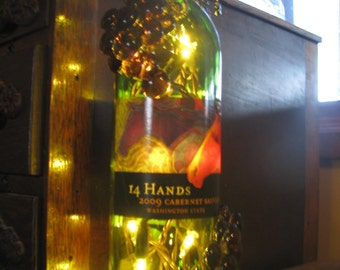 14 Hands recycled Wine bottle lights